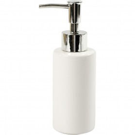 Soap dispenser, white, H: 16,5 cm, D: 5,5 cm, 150 ml, 1 pc