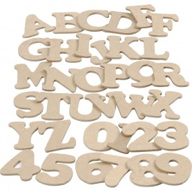 Letters and Numbers, H: 4 cm, thickness 2,5 mm, 36x10 pack/ 1 pack