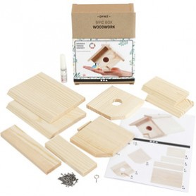 Bird box, H: 13 cm, depth 14,5 cm, W: 16 cm, 1 pc/ 1 pack