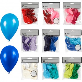 Balloons, assorted colours, 30 pack/ 1 pakk