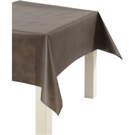 Imitation Fabric Table Cloth, brown, W: 125 cm, 70 g, 10 m/ 1 roll