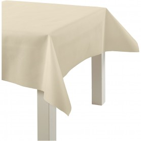 Imitation Fabric Table Cloth, light yellow, W: 125 cm, 70 g, 10 m/ 1 roll