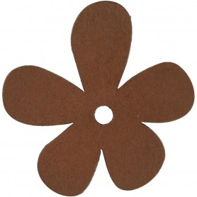 Flower, brown, size 57x51 mm, thickness 2 mm, 10 pc/ 1 pack