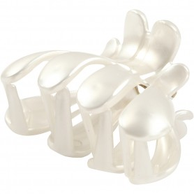 Hair Claw, mother-of-pearl, L: 60 mm, W: 38 mm, 2 pc/ 1 pakk