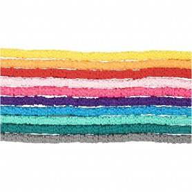 Clay Beads, assorted colours, D: 5-6 mm, hole size 2 mm, 10x145 pc/ 1 pack