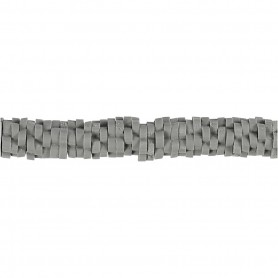 Clay Beads, grey, D: 5-6 mm, hole size 2 mm, 145 pc/ 1 strand