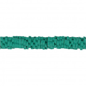 Clay Beads, turquoise, D: 5-6 mm, hole size 2 mm, 145 pc/ 1 strand