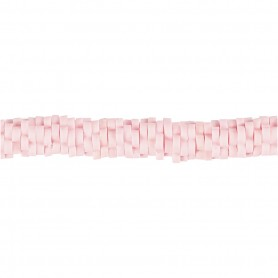 Clay Beads, light red, D: 5-6 mm, hole size 2 mm, 145 pc/ 1 strand