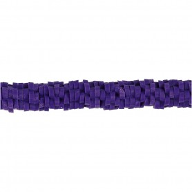 Clay Beads, purple, D: 5-6 mm, hole size 2 mm, 145 pc/ 1 strand