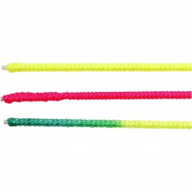 Wire with Nylon, neon roosa, neon lilac, neon yellow, L: 40 cm, thickness 1,5 mm, 6 pc/ 1 pakk