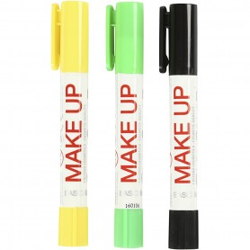 Playcolor Make Up, black, light green, yellow, 3x5 g/ 1 pack