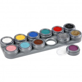 Water-based Face Paint Palette, assorted colours, 12x2,5 ml/ 1 tk