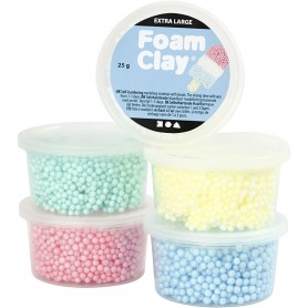 Foam Clay Extra Large, assorted colours, 5x25 g/ 1 pack