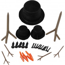 Hats, noses and branches, 3 set/ 1 pack