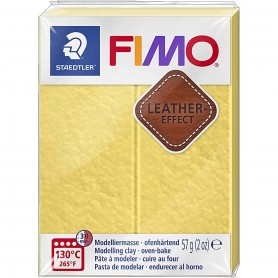 FIMO® Leather Effect , saffran yellow (109), 57 g/ 1 pack