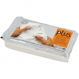 Self-Hardening Clay, white, 12x1000 g/ 1 pack