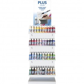 Plus Color Craft Paint Assortment, assorted colours, 240 bottle/ 1 pakk