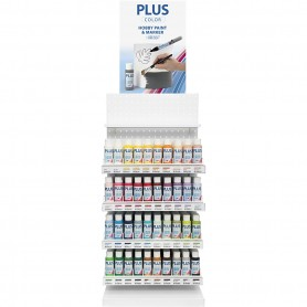 Plus Color Craft Paint Assortment, white, H: 850 mm, depth 300 mm, W: 400 mm, 240 bottle/ 1 pack