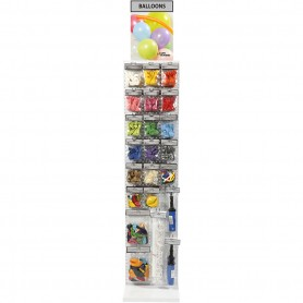 Balloons And Accessories Display, assorted colours, 226 sales units/ 1 pakk