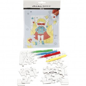 Mini Creative Kit, valge, superhero, 1 set