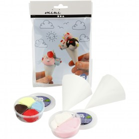 Mini Creative Kit, ice cream cones, 1 set