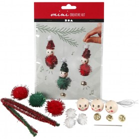 Creative mini kit, hanging Christmas elf decoration, 1 set
