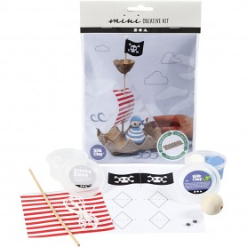 Creative mini kit, Egg box pirate ship, 1 set