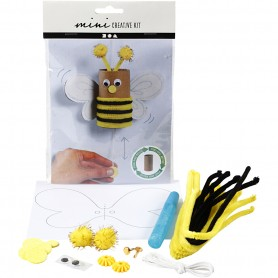 Creative mini kit, Toilet roll bouncing bee, 1 set