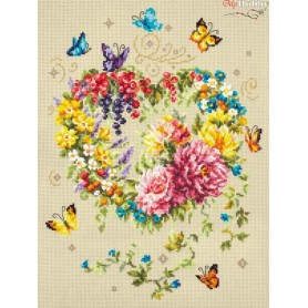 Complete Counted Cross Stitch Kit 'Tenderness of Your Heart' 26 х 34cm - MAGIC NEEDLE art: 100-143