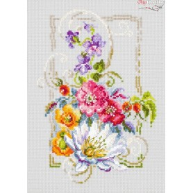 Complete Counted Cross Stitch Kit 'Happy July' 15 x 21cm - MAGIC NEEDLE art: 100-163