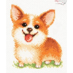 Complete Counted Cross Stitch Kit 'Keep a Smile' 10 x 13cm - MAGIC NEEDLE art: 16-18
