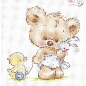 Complete Counted Cross Stitch Kit 'My Toys' 13 x 13cm - MAGIC NEEDLE art: 17-15