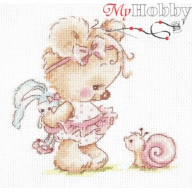 Complete Counted Cross Stitch Kit 'I'm Friends with You!' 13 x 13cm - MAGIC NEEDLE art: 17-16