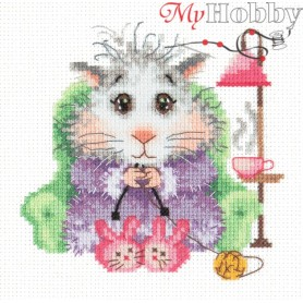 Complete Counted Cross Stitch Kit 'I Knit to Order' 12 x 12cm - MAGIC NEEDLE art: 18-95