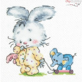 Complete Counted Cross Stitch Kit 'Top-top' 11 x 11cm - MAGIC NEEDLE art: 19-08