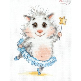 Complete Counted Cross Stitch Kit 'Ballet Star' 11 x 14cm - MAGIC NEEDLE art: 19-15