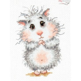 Complete Counted Cross Stitch Kit 'Buy a Hamster, Please!' 9 x 13cm - MAGIC NEEDLE art: 19-16