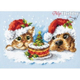 Complete Counted Cross Stitch Kit 'A Delicious Christmas !' 19 x 13cm - MAGIC NEEDLE art: 19-27