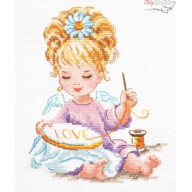 Complete Counted Cross Stitch Kit 'My Crafts' 14 x 18cm - MAGIC NEEDLE art: 33-24