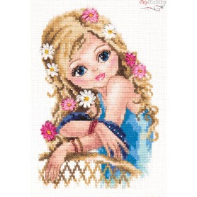 Complete Counted Cross Stitch Kit 'The Most Beautiful Girl' 13 x 20cm - MAGIC NEEDLE art: 80-10