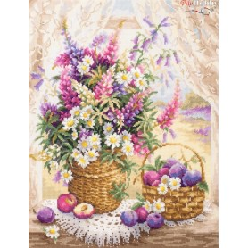 Complete Counted Cross Stitch Kit 'Summer Flavor' 32 x 40cm - MAGIC NEEDLE art: 100-182