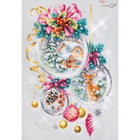 Complete Counted Cross Stitch Kit 'A Christmas Fairy Tale' 22 x 32cm - MAGIC NEEDLE art: 100-247
