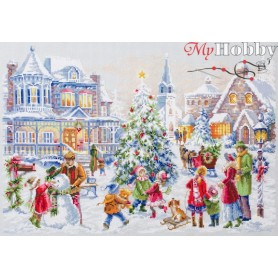 Complete Counted Cross Stitch Kit 'Christmas Eve' 46 x 31cm - MAGIC NEEDLE art: 100-250