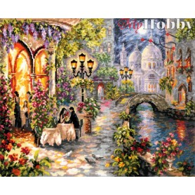 Complete Counted Cross Stitch Kit 'Night Rendezvous' 40 x 32cm - MAGIC NEEDLE art: 110-081