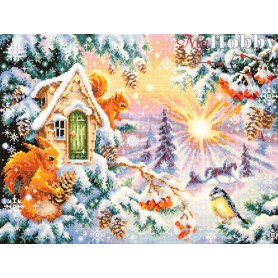 Complete Counted Cross Stitch Kit 'Winter Morning' 40 x 30cm - MAGIC NEEDLE art: 110-700