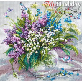 Complete Counted Cross Stitch Kit 'Tender May' 32 x 32cm - MAGIC NEEDLE art: 40-70