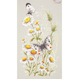 Complete Counted Cross Stitch Kit 'Summer Glade' 18 x 31cm - MAGIC NEEDLE art: 42-12