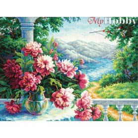 Complete Counted Cross Stitch Kit 'Heady Bouquet' 40 x 30cm - MAGIC NEEDLE art: 44-18