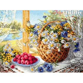 Complete Counted Cross Stitch Kit 'Summer Morning' 40 x 30cm - MAGIC NEEDLE art: 50-06