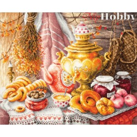 Complete Counted Cross Stitch Kit 'Tea Time' 40 x 34cm - MAGIC NEEDLE art: 50-09
